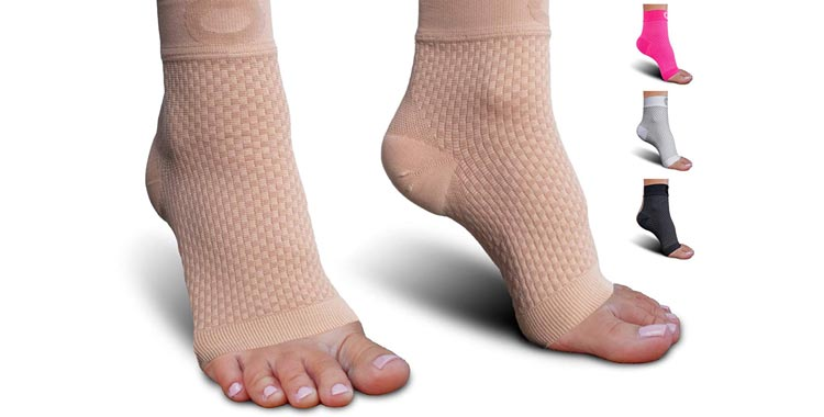 Plantar Fasciitis Socks with Arch Support for Men & Women - Best Ankle Compression Socks