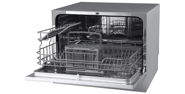 EdgeStar DWP62SV 6 Place Setting Energy Star Rated Portable Countertop Dishwasher